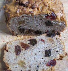 Low carb and fruit and cinnamon bread