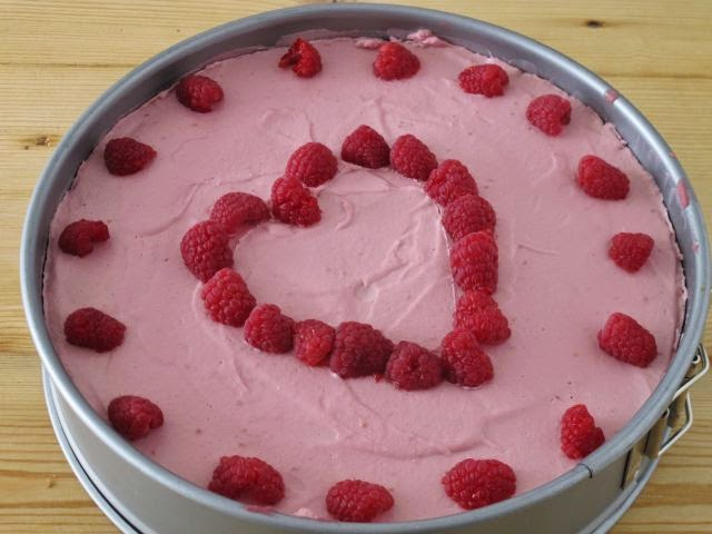 Raw Valentine's Day cake