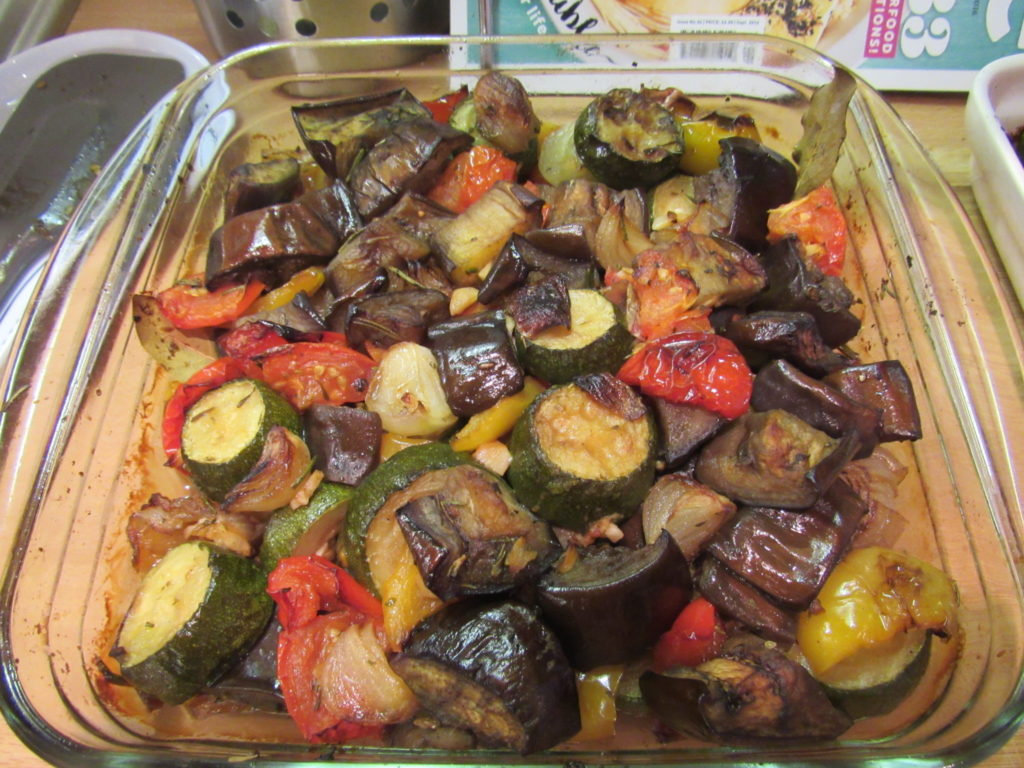 Ratatouille oven cooked